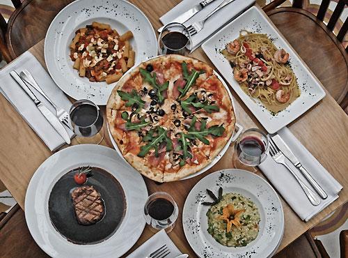 platillos del restaurante Lombardi