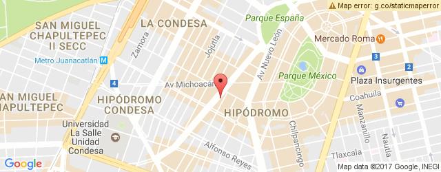 Restaurante PACIFICA CONDESA en Zona Rosa Cuauhtmoc PAC