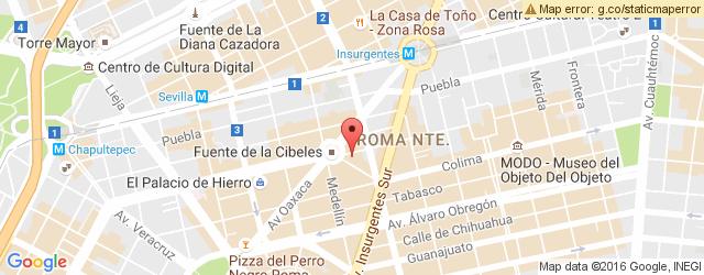 Restaurante LA TECLA ROMA en Condesa Roma LA TECLA ROMA