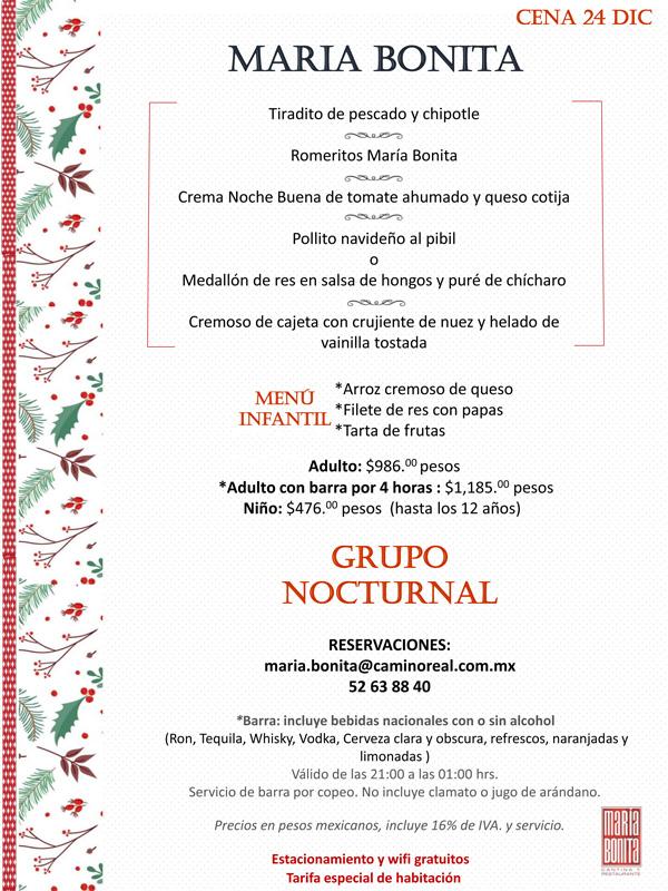Restaurantes que ofrecen cena de navidad 2016 for Menu de cenas