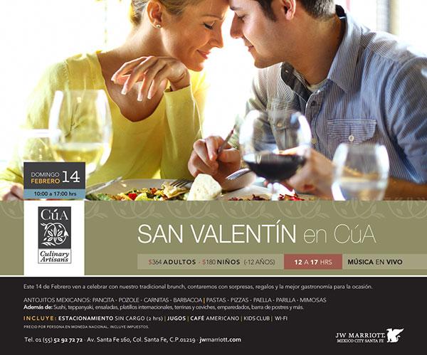 Restaurante Cua festeja el 14 de febrero
