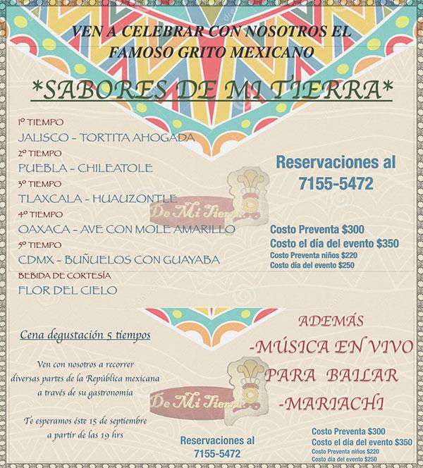Restaurantes Para Celebrar La Gran Noche Mexicana 2016